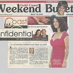 Catherine Zeta-Jones in the Gold Coast Bulletin